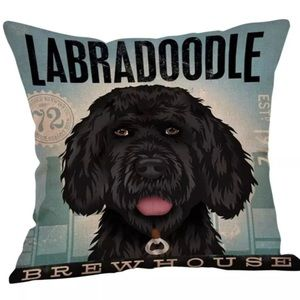 Labradoodle Brewhouse Pillow Cover